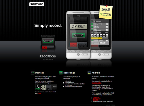 android webdesign4 30+ Android Applications Website Designs For Your Inspiration