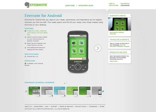 android webdesign6 30+ Android Applications Website Designs For Your Inspiration
