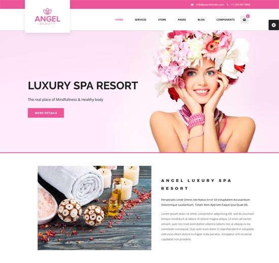 angel beauty spa massage salon html