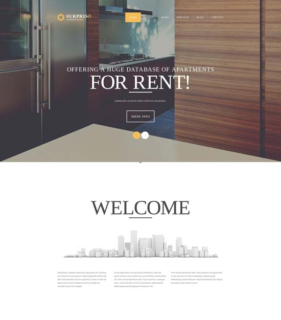 apartment rent joomla template