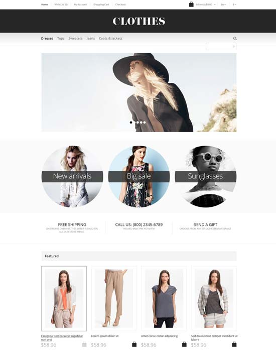 apparel responsive fashion opencart template