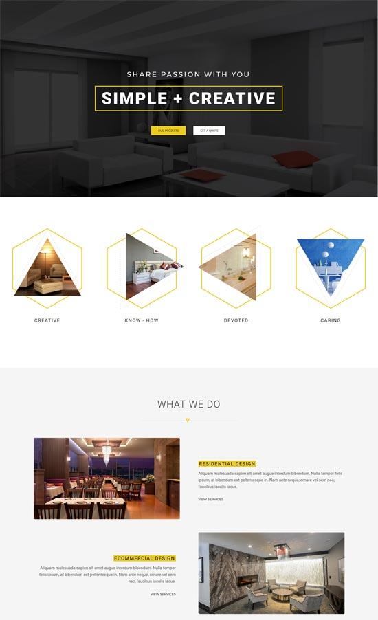 arc interior design decor wordpress theme