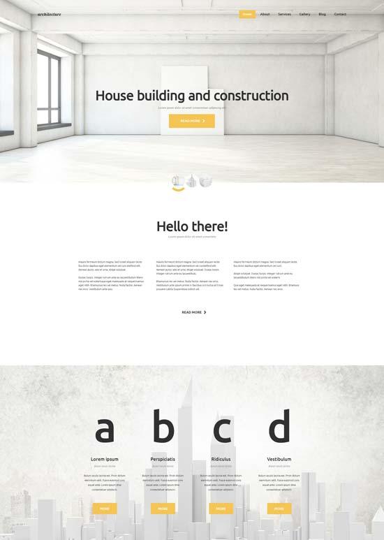 architecture joomla template 53317