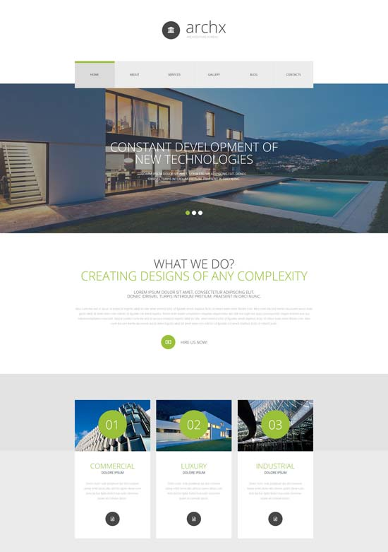 architecture responsive joomla template 54593