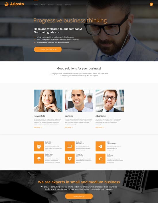 ariosto consulting responsive website template