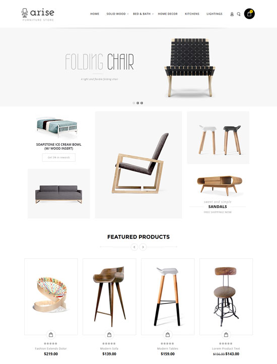 arise furniture magento theme