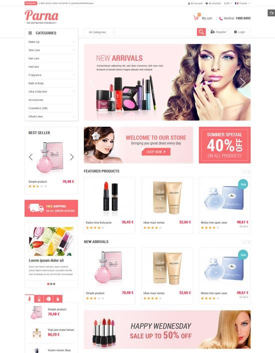 arna beauty magento theme
