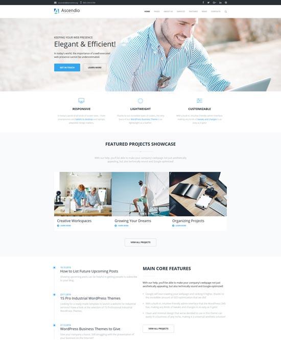 ascendio corporate business consulting wordpress theme