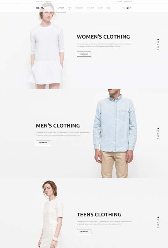 asiko fashion prestashop theme