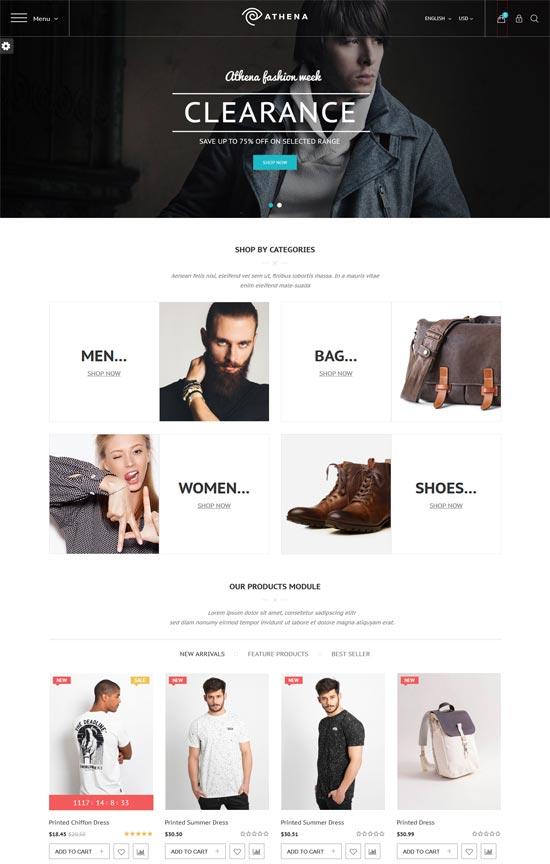 athena fashion responsive prestashop theme