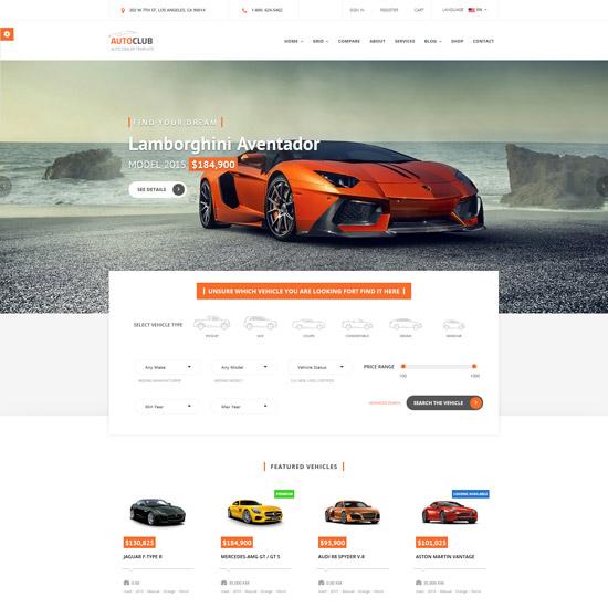 auto club car dealer html template