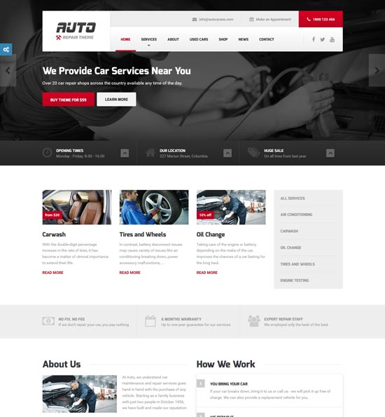 auto ideal car mechanic wordpress