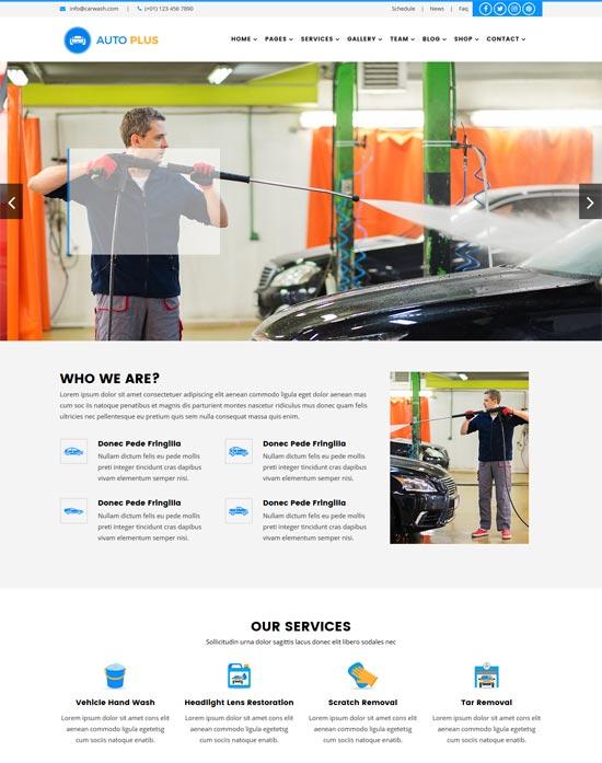 auto plus car wash html template