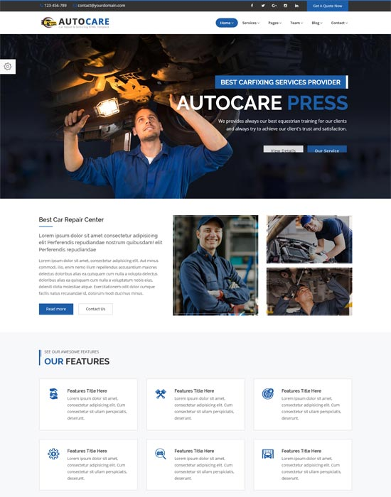 autocarepress car repair servicing html template