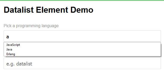 autocomplete dropdowns datalist element