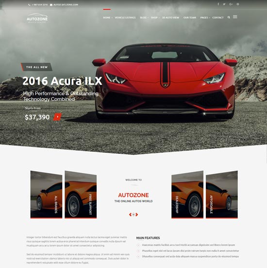 autozone car dealer wp theme