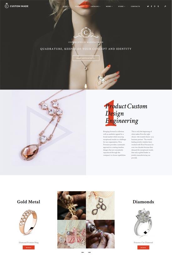 axiom jewelry manufacturer wordpress theme