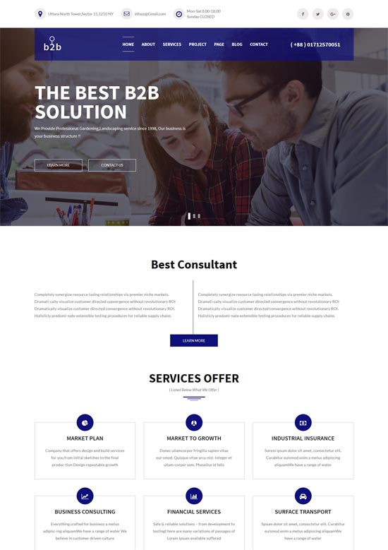 b2b consulting corporate template