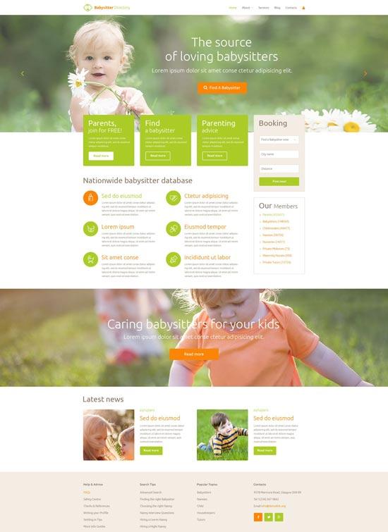 babysitter directory responsive wordpress theme