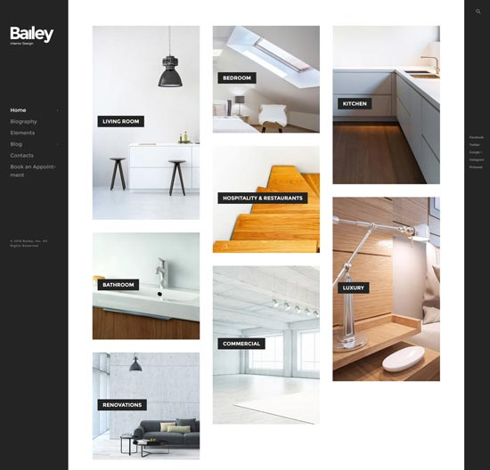 bailey interior design wordpress theme