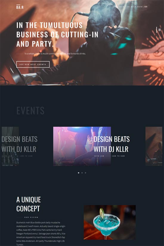bar night disco club template