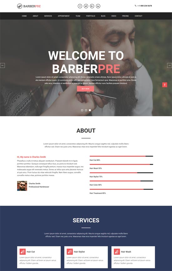 barberpre template html