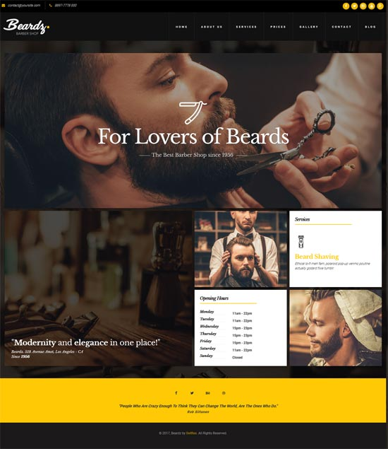 beardz barbers hair salon template