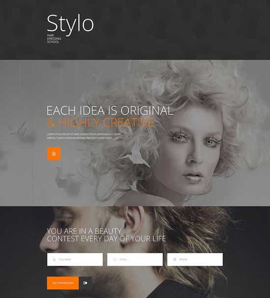 beauty-school-responsive-website-template