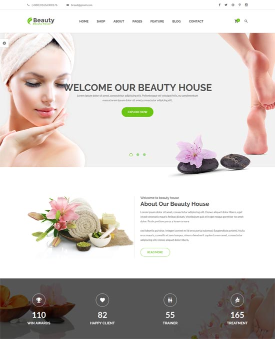 beautyhouse health beauty html template