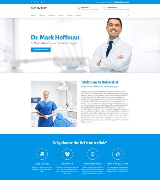 bedentist dentist medical WordPress theme