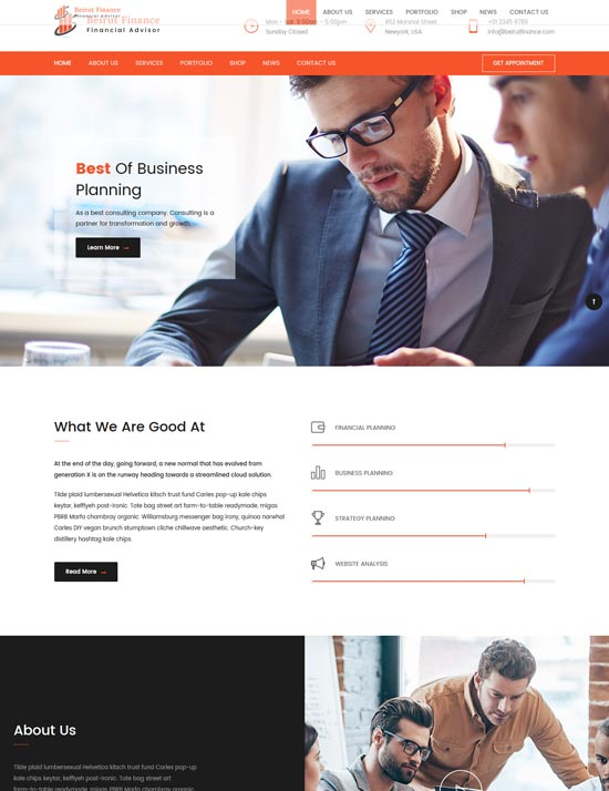 beirut business finance template