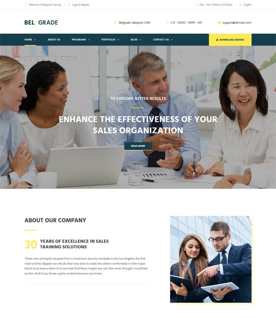 belgrade consulting business html template