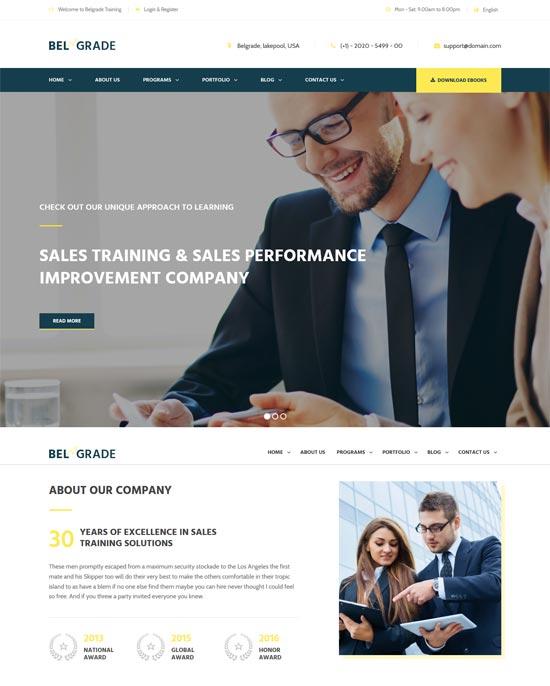 belgrade training consulting business wordpress theme