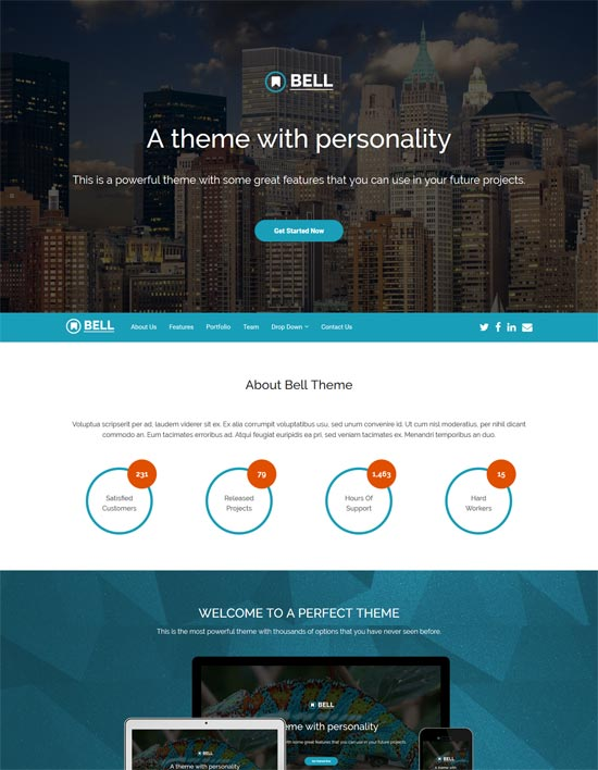 bell free bootstrap 4 template