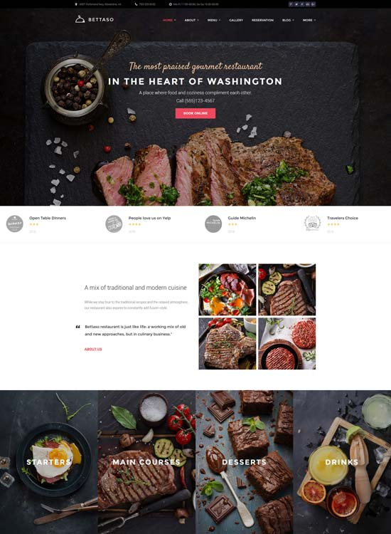 bettaso cafe WordPress theme