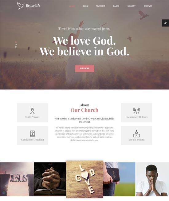 betterlife church html template