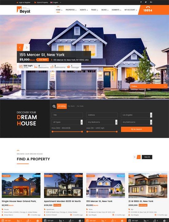 beyot wordpress real estate theme