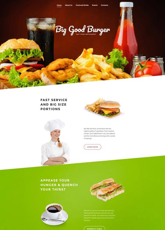 big good burger fast food website template