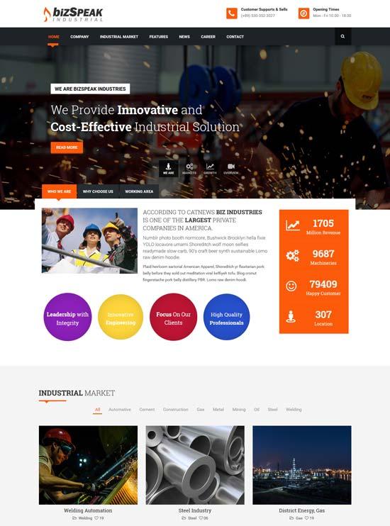 bizspeak-industrial-html5-template