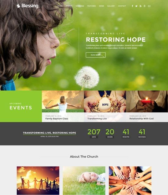 blessing church website template
