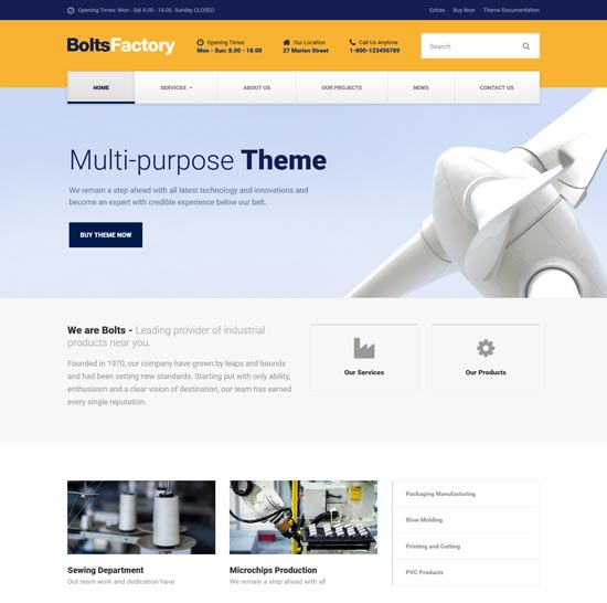 bolts factory business template