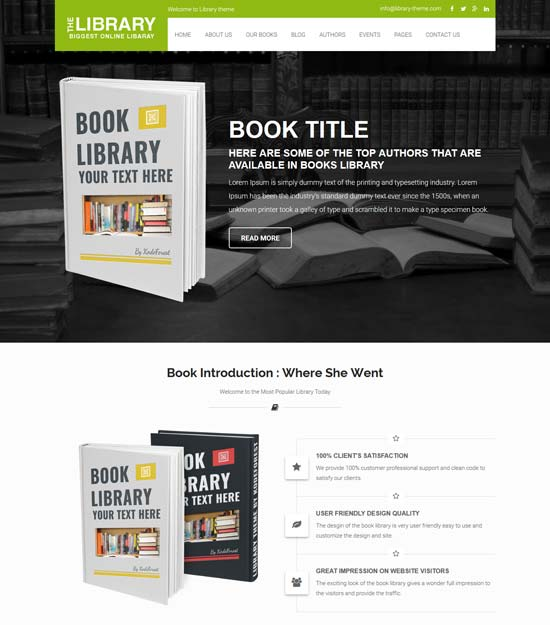 book guide library ecommerce store