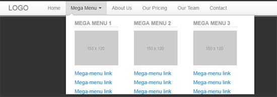 bootstrap mega menu css