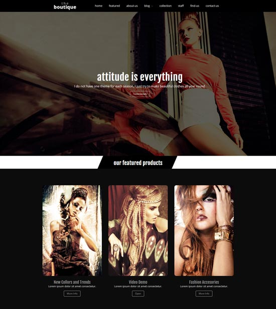 boutique fashion wordpress-theme