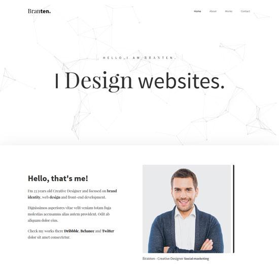 branten personal portfolio html template