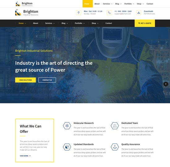 brighton industry business template