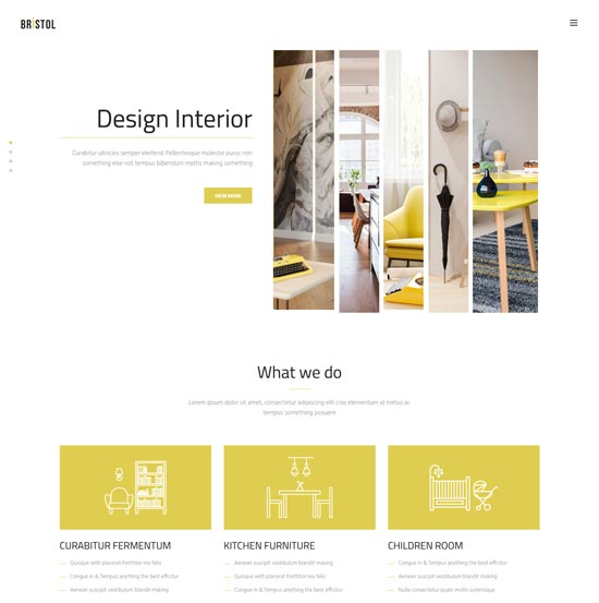 bristol interior decor html template