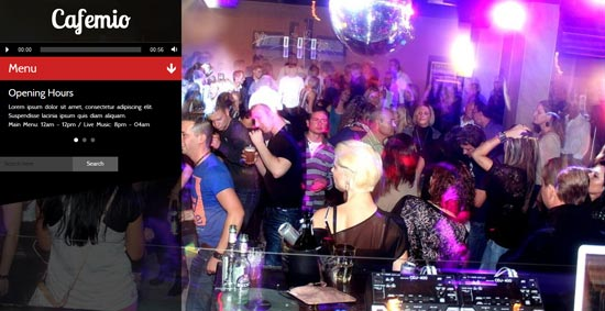 cafemio ajax club bar wp theme