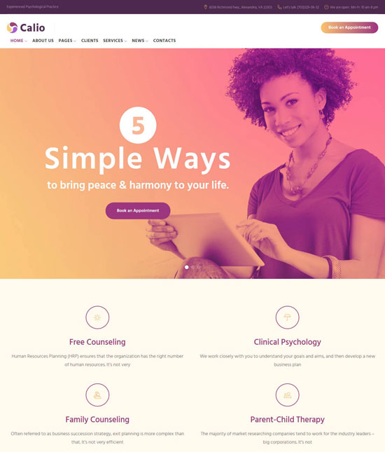 talking business wordpress theme
