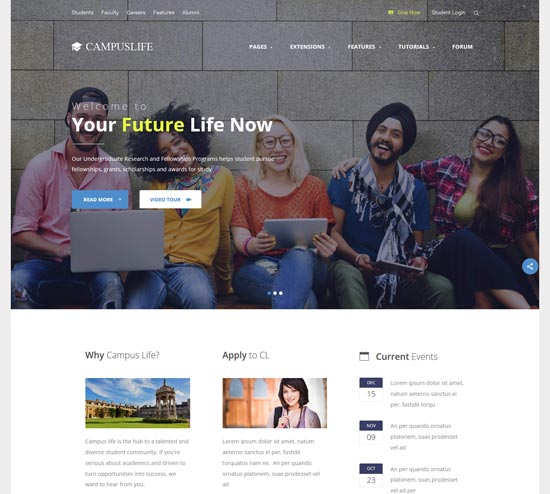 campus life education template